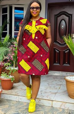 Short African Dresses, Latest African Fashion Dresses, African Print Fashion, Africa Fashion, Women's Fashion, African Wear, African Attire, African Style, African Print Jumpsuit