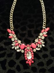Red & Diamond Stoned Necklace for sale at Glamhairus.com
