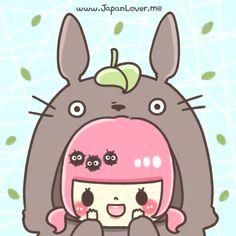 Most popular tags for this image include: japan lover me, totoro, kawaii, cute girl and the neighbor totoro Totoro, Howls Moving Castle, Cute Japanese, Hayao Miyazaki, Cute Chibi, Kawaii Art, Studio Ghibli, Kids And Parenting, Cute Girls