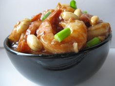 Kung Pao Shrimp Recipe on Yummly Kung Pao Shrimp, Fried Peppers, Thai Peanut Chicken, Asian Recipes, Ethnic Recipes, Spicy Sauce, Roasted Peanuts, Seafood Restaurant, Shrimp Recipes