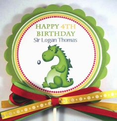 Centerpiece  Cake Topper   Knights and Dragons  Party by 10candles, $7.50