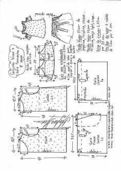 Amazing Sewing Patterns Clone Your Clothes Ideas. Enchanting Sewing Patterns Clone Your Clothes Ideas. Baby Dress Patterns, Kids Patterns, Doll Clothes Patterns, Sewing Patterns Free, Sewing Clothes, Clothing Patterns, Sewing Tutorials, Sewing Projects, E 38