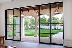 Doors Steel French Patio Doors Single Patio Door Modern Sliding Glass Doors With Black Frame Big Glass Lantern Pendant Lamps: inspiring steel french patio doors - April 20 2019 at Exterior Doors With Glass, Patio Windows, Sliding Doors Interior, Modern Patio Doors, French Doors Patio, Sliding Door Design, Sliding Doors Exterior