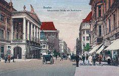 Breslau - Schweidnitzer Straße mit Stadttheater