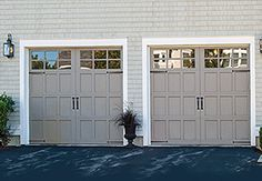 Carriage House Style Garage Door Model 307   Carriage House Collection   The Carriage House Collection is a line of garage doors that are designed with the inspiration of classic carriage doors. Model 307 doors offer a framed panel look and flexibility in color selection, including the ability to custom paint to match any home's color palette.   Learn more at overheaddoor.com