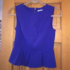 Kimchi blue cobalt blue top New with tags. Size small. Fits like a S (I'm a small and it's too tight) urban outfitters classic brand. Great color Urban Outfitters Tops