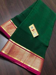 Pure Mysore Silk Crepe Sarees with rich pallu and contrast blouse. Wear at a Wedding or a Special Occasion. Very light to wear and soft silk. Crepe Silk Sarees, Pure Silk Sarees, Silk Crepe, Mysore Silk Saree, Silk Saree Kanchipuram, Kanjivaram Sarees, Wedding Saree Blouse Designs, Saree Wedding, Saree Dress