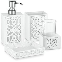Interdesign Alston Bath Accessory Set Soap Dispenser Pump Best Clear Bathroom Accessories Decorating Design
