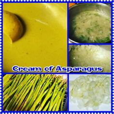 I finally got my Cream of Asparagus soup finished and put away. It's #delicious with garlic & herb goat cheese crumbled on top.
