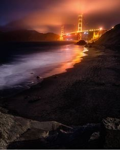 Golden Gate Bridge, Bridges, Celestial, Sunset, Beach, Water, Outdoor, Sunsets, Water Water