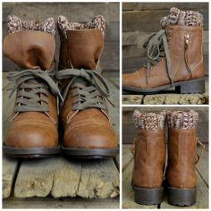 brown sweater boots rustic fall fashion