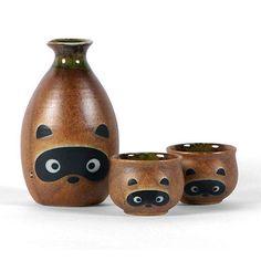 Japanese Sake Set Raccoon #followitfindit