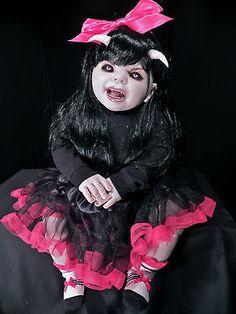 OOAK Krypt Kiddies Kuddle goth vampire horror demon scary reborn doll evil rare
