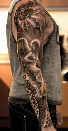 amazing angel tattoo