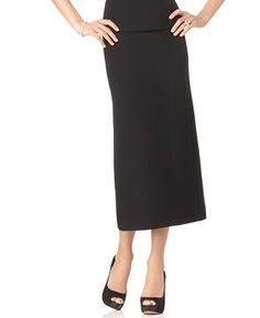 Long Straight Black Skirt - Redskirtz