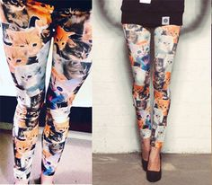 Classic Crazy Cat Leggings | Crazy Cat Lady Clothing