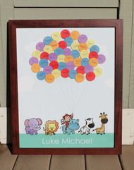 Baby Shower Guest Book Sign In Zoo Parade
