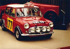 Mini Cooper Vintage Rally Car - The Giant Killer, one of my all time favorite rally cars!