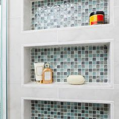 Built in Shower shelves Beach Bath - eclectic - bathroom - other metro - In Detail Interiors