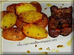 Gizi-receptjei. Várok mindenkit.: Újkrumpli sütőben sütve. Tandoori Chicken, Ale, Food And Drink, Meat, Ethnic Recipes, Beef, Ale Beer, Ales, Beer