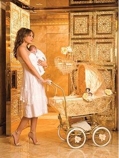 Melania Trump. I have loved this photo for years. If I ever have a baby, I want a recreation of this photo!