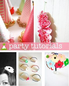 Can't wait to make the hats and wall decor for my sweet pea's birthday dinner