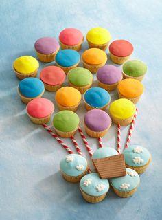 Kinderparty DIY Dekoideen - Cupcakes
