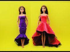 Barbie Dolls Diy, Diy Barbie Clothes, Diy Clothes, Barbie Stuff, Gown Dress, Diy Dress, Dress Outfits, Barbie Gowns, Barbie Dress