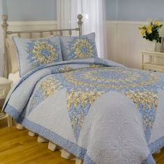 The elegant quilt pattern and scroll work design of the