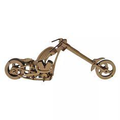 Moto Chopper. Quebra Cabeça 3d. Miniatura Em Mdf - R$ 45,00 no MercadoLivre