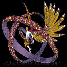 The Fallen by John-Stone-Art on DeviantArt Fantasy Character Design, Character Design Inspiration, Character Concept, Character Art, Monster Concept Art, Fantasy Monster, Monster Design, Angels And Demons, Creature Concept