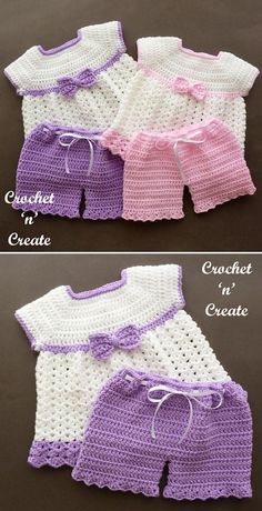 Angel Dress and Pants Free Crochet Pattern This adorable set for a girl will be a perfect ensemble for your little princess. Shorts with lovely ribbon and little dress with cute bow are both easy to make and look cute. Beginners this is a project for you! Crochet Baby Dress Free Pattern, Baby Girl Crochet, Crochet Baby Clothes, Crochet For Kids, Crochet Patterns, Crochet Baby Dresses, Crochet Toddler Dress, Sewing Patterns, Crochet Ideas