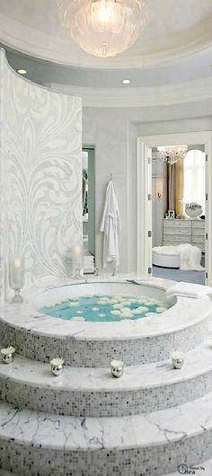 Marble bath tube - The most luxurious pieces and ambiences you ever seen are at www.homedesignideas.eu