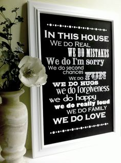"house ""rules"""