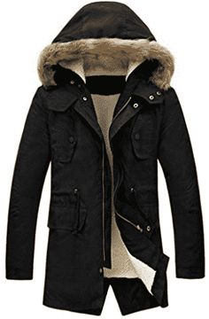 Big deal LILBETTER Men's Hooded Faux Fur Lined Warm Coats Outwear Winter Jackets(Black,XXL) discover this and many other bargains in Crazy by Deals, we bring daily the best discounts for you Mens Parka Jacket, Parka Coat, Hooded Jacket, Parka Jackets, Winter Parka, Winter Jackets, Best Parka, Men's Apparel, Wraps