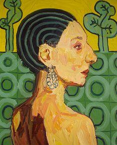 Meirion Alan Ginsberg, Girl Profile 2 30cm x 24cm Oil on Canvas