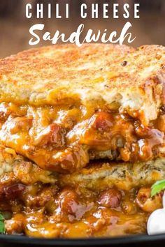 This hearty Chili Cheese Sandwich Recipe is made using leftover chili