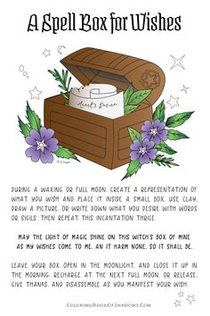 A manifestation spell and witch box!