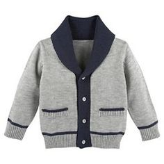 G-Cutee Toddler Boys' Cardigan - Sleek Gray 6 Knit Baby Sweaters, Boys Sweaters, Sweaters For Women, Toddler Boy Outfits, Toddler Boys, Kids Outfits, Infant Toddler, Baby Cardigan, Baby Knitting Patterns