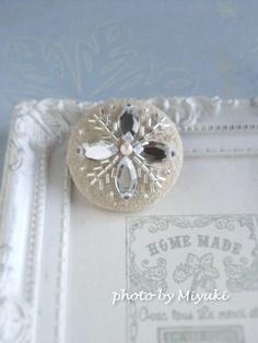 silver flower broach