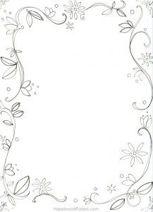 Fancy Border Coloring Pages