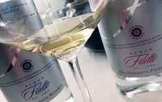 Acqua Filette, water for tasting champagne.