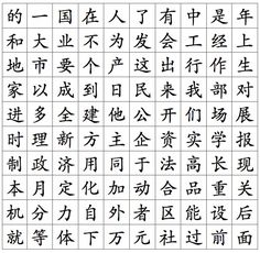 The 100 most used 100 Chinese characters 个 最 常用 汉字 - Decode Mandarin