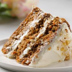 This Carrot Cake recipe is moist, tender & easy to make! It's seriously the best carrot cake recipe covered in cream cheese frosting for a perfect cake. Carrot Recipes, Sweet Recipes, Ultimate Carrot Cake Recipe, Cupcakes, Cupcake Cakes, Baking Recipes, Zebra Cakes, Treats, Cupcake