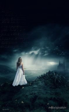 She became lost in the dark of the world.