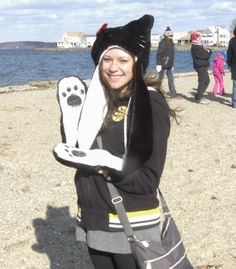 """on the beach at the """"polar plunge"""""""