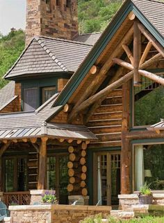 Cool log house