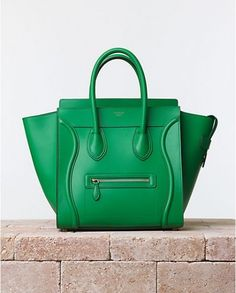 Luggage verde Celine
