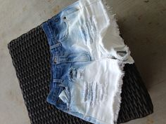 just made these today! DIY distressed high-waisted shorts