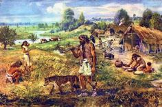 Early humans before the neolithic era lived in small nomadic communities. Certain prehistoric communities started to make their own innovations regarding tools. Era Paleolítica, Agricultural Revolution, Prehistoric World, Prehistoric Animals, Early Humans, Hunter Gatherer, Natural Selection, Stone Age, Ancient Civilizations